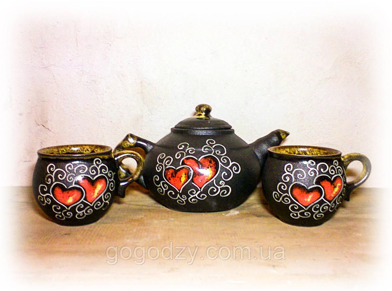 """Чайний набір, декор """"Серце"""""""