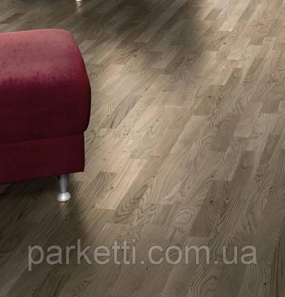 Паркетная доска Focus Floor Ясень Tehuano 3-полосный, легкий браш, серое масло