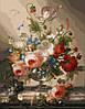 Раскраски для взрослых 40×50 см. Цветочный натюрморт с виноградом Художник Хильдегард Швамбергер