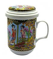 """Чашка заварник с ситечком """"Девушки"""" (330 мл)"""