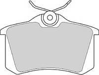 Тормозные колодки AUDI A4 AVANT (8ED, B7), 11/2004 - 06/2008 дисковые задние, Q-TOP (Испания) QE2702E