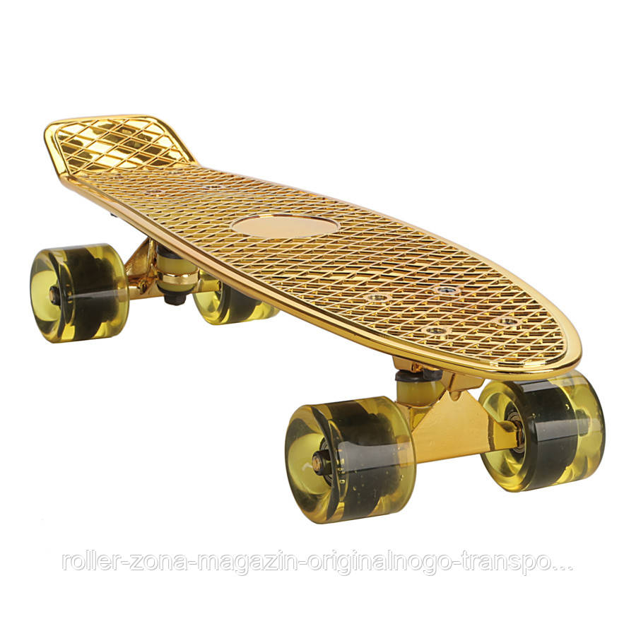 "Penny Board Candy 22"" Gold Chrome"