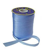 Косая бейка (атласная) - цвет голубой