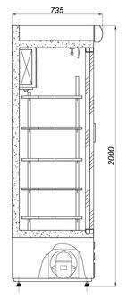 Холодильный шкаф Cold SW-1600 DR, фото 2