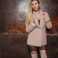 Короткое кашемировое пальто - пиджак демисезонное