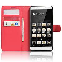 Чехол Lenovo A7020 / A7020a40 / A7020a48 / Vibe K5 Note / Vibe K5 Note Pro книжка PU-Кожа красный