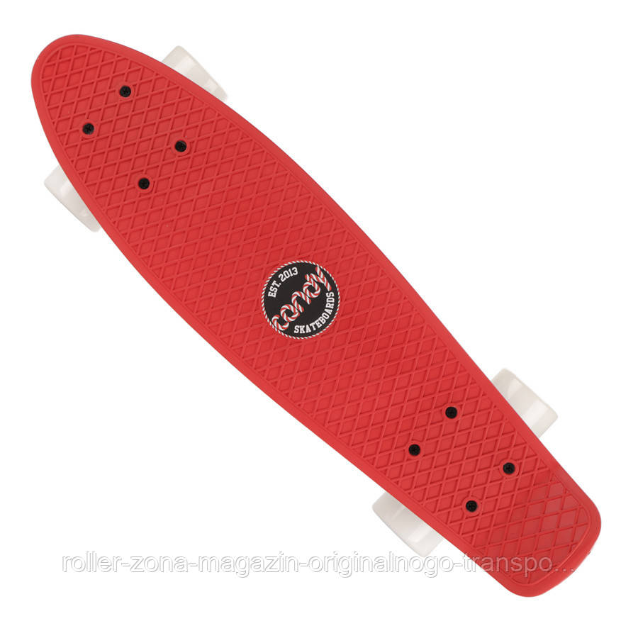 "Penny Board Candy 22"" Red White"