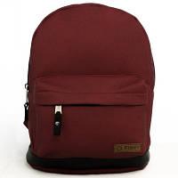 Рюкзак городской, студенческий, школьный ТМ Tiger (Украина), цвет бордовый сатин