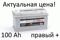 Аккумулятор Bosch S5 100 Ah 0092S50130 Пусковой ток 830 A, Правый +, Размеры на картинке