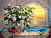 Раскраски для взрослых 40×50 см. Букет жасмина