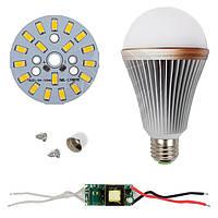 Светодиодная (LED) лампа SQ-Q24 5730 9 Вт, теплый белый, E27 (комплект диммируемый)