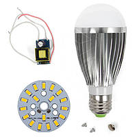 Светодиодная (LED) лампа SQ-Q03 5730 9 Вт, теплый белый, E27 (комплект диммируемый)