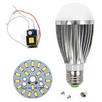 Светодиодная (LED) лампа SQ-Q03 5730 9 Вт, холодный белый, E27 (комплект диммируемый)