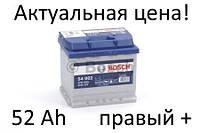 Аккумулятор Bosch S4 52 Ah 0092S40020 Пусковой ток 470 A, Правый +, Размеры на картинке