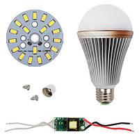 Светодиодная (LED) лампа SQ-Q24 5730 9 Вт, холодный белый, E27 (комплект диммируемый)