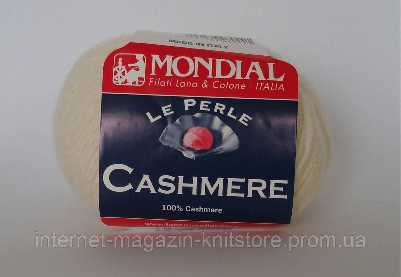 Пряжа Mondial Cashmere Белый