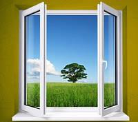 Окно металлопластиковое Grintech 1300*1400 2-створчатое (штульп)