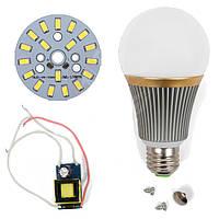 Светодиодная (LED) лампа SQ-Q23 5730 9 Вт, холодный белый, E27 (комплект диммируемый)