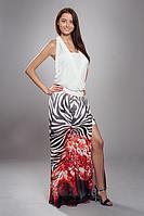 Длинное воздушное платье двойка ,размеры 44-46,48-50 (белое с купоном).