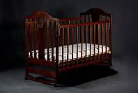 Детская кроватка Наполеон NEW колесо-качалка орех