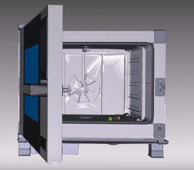 Видео о перевешивании двери на печах 6 серии Unox XEBC, XEVC