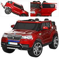 Детский электромобиль Джип M 3107EBLRS-3, кожаное сиденье, красный в авто покраске