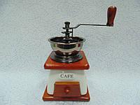 Ручная деревянная механическая кофемолка размер 12*12*18, фото 1