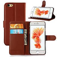 Чехол Iphone 6 / 6s книжка PU-Кожа коричневый