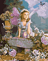Раскраски по цифрам 40×50 см. Весенний ангел