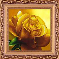 """Наборы для рисования камнями 5D (частичная выкладка на холсте) """"Желтая роза"""" LasKo"""