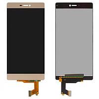 Дисплей (LCD) Huawei P8 GRA-L09 с сенсором золотой