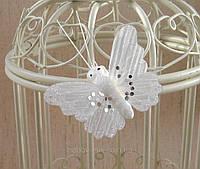 Бабочка белая 5 см.