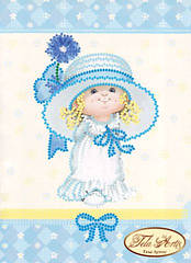 Схема для вышивки бисером Маленькая Мисс