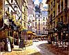 Рисование по номерам 40×50 см. Рестораны Парижа Художник Сунг Сам Парк
