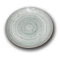Тарелка фарфоровая Siesta 270мм. Олива