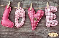 Схема для вышивки бисером LOVE