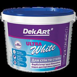 "Ultra White для стін і стель білосніжна матова акрилова ТМ ""DekArt"", 1 л"