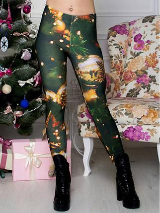 Леггинсы Новогодняя Елка, фото 2