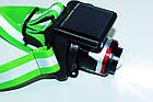 Налобный фонарь Police BL-T855 + солнечная батарея, фото 4
