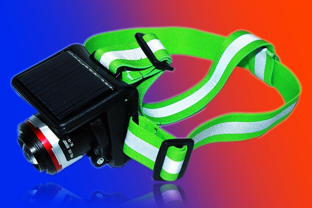 Налобный фонарь Police BL-T855 + солнечная батарея