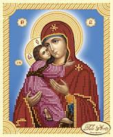 Схема для вышивки бисером иконы Божья Матерь Владимирская