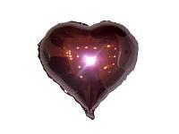 Шар фольгированый в форме сердца персиковое в точечку ,