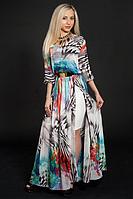 Красивое шифоновое платье с нижней юбкой ,размер 46-48
