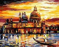 Рисование по номерам 50×65 см. Золотое небо Венеции Художник Леонид Афремов , фото 1