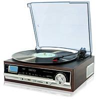 Проигрыватель для виниловых пластинок Camry CR 1114 с радиоприемником и возможностью записи