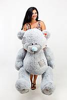 Большой плюшевый мишка, медведь Тэдди 150см серый