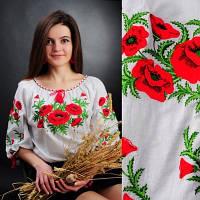 Вишита сорочка Макова Роса. Традиційна слобожанська народна українська