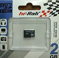 Карта памяти микро SD Hi-Rali 2 гб без адаптера