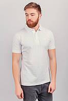 Поло мужское, футболка светлая №222F050 (Белый)