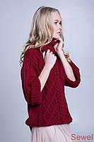 Зимний женский свитер под горло